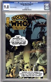 Doctor Who Classics Comics #1 Retail Variant CGC 9.8 Dave GIbbons Cover IDW comic book